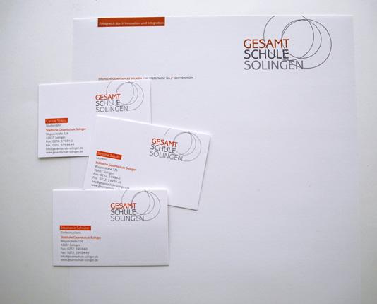 Gesamtschule solingen frambach werbedesign design aus for Schule design